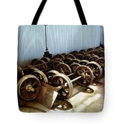 Cable Car Wheels, Repair Shop Tote Bag