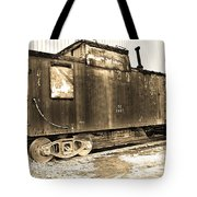 Caboose Black And White Tote Bag
