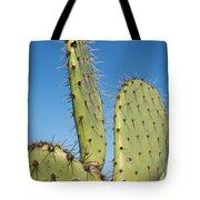 Cactus Against Blue Sky Tote Bag