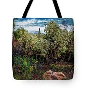 Cactus And Bird Tote Bag