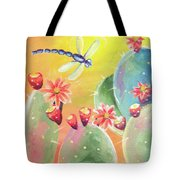 Cactus And Firefly Tote Bag