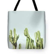 Cactus And Sky Vintage Tote Bag