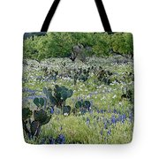 Cactus And Willow-wildflowers Of Texas Tote Bag