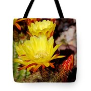 Cactus Bloom In Yellow 050715ab Tote Bag