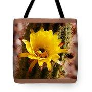Cactus Bloom Yellow 050914a Tote Bag