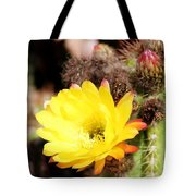 Cactus Blooms Yellow 050214g Tote Bag