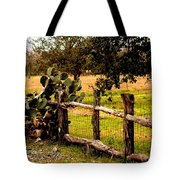 Cactus Fence Line Tote Bag