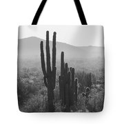 Cactus In Black And White Tote Bag