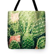 Cactus In Blossom  Tote Bag