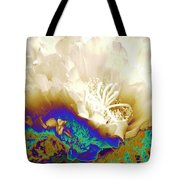 Cactus Moon Flower Tote Bag