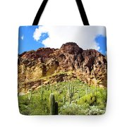 Cactus On The Mountainside Tote Bag
