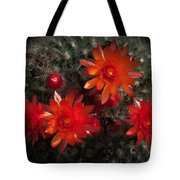 Cactus Red Flowers Tote Bag