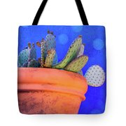 Cactus With Blue Dots Tote Bag