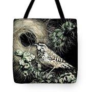 Cactus Wren Tote Bag