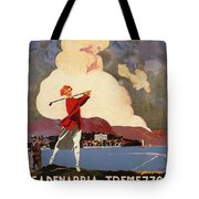 Cadenabbia Tremezzo, Golf And Tennis - Golf Club - Retro Travel Poster - Vintage Poster Tote Bag