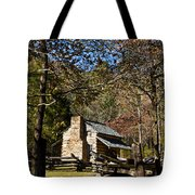 Cades Cove Early Settler Cabin  Tote Bag