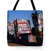 Cadillac Ranch On Route 66 Tote Bag