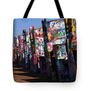 Cadillac Ranch Route 66 Tote Bag