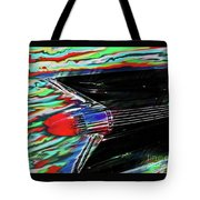 Cadillac Tail Fin Guitar Fantasy Tote Bag
