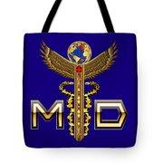 Doctor Caduceus Medical Md2 Tote Bag