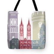 Caen Skyline Poster Tote Bag