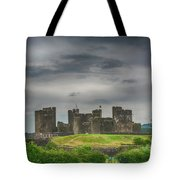 Caerphilly Castle East View 3 Tote Bag