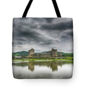Caerphilly Castle North View 1 Tote Bag