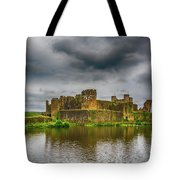 Caerphilly Castle South East View 1 Tote Bag