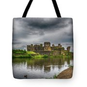 Caerphilly Castle South East View 2 Tote Bag