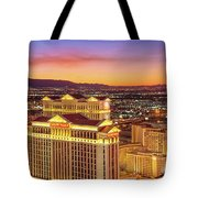 Caesars Palace After Sunset 6 To 3.5 Aspect Ratio Tote Bag
