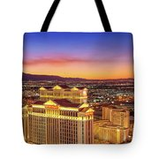 Caesars Palace After Sunset Tote Bag