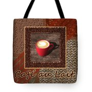 Cafe Au Lait - Coffee Art - Red Tote Bag