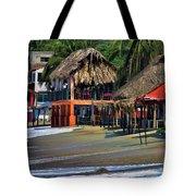 Cafe Beach Bucerias Mexico Tote Bag