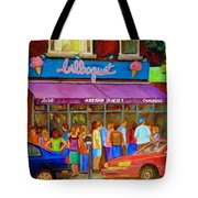 Cafe Bilboquet Ice Cream Delight Tote Bag