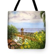Cafe By The Sea Tote Bag