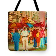Cafe Crowds Tote Bag