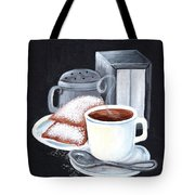 Cafe Du Monde On Black Tote Bag