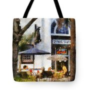 Cafe Tote Bag by Francesa Miller