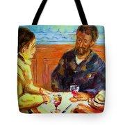 Cafe  Homage  De Pierre Auguste Tote Bag