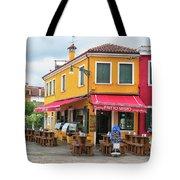 Cafe In Burano Tote Bag