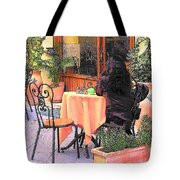 Cafe In Montepulciano Tuscany Tote Bag