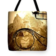 Cafe Sign In Bavarian Alps Tote Bag