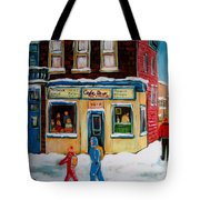 Cafe St. Viateur Montreal Tote Bag
