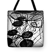 Cafe Table Shadows Tote Bag