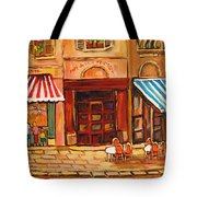 Cafe Vieux Montreal Tote Bag