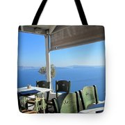 Cafe' With A View Tote Bag