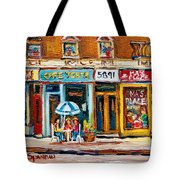 Cafe Yenta And Ma's Place Tote Bag