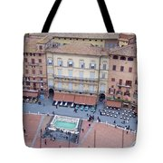 Cafes Of Il Campo In Siena Italy Tote Bag