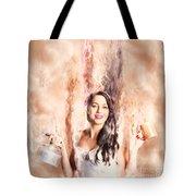 Caffeine High Pin Up Girl Tote Bag