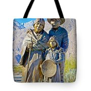 Cahuilla Band Of Agua Caliente Indians Sculpture On Tahquitz Canyon Way In Palm Springs-california Tote Bag